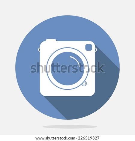 Hipster photo or camera icon. EPS10 vector. - stock vector