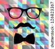 hipster tie - stock vector