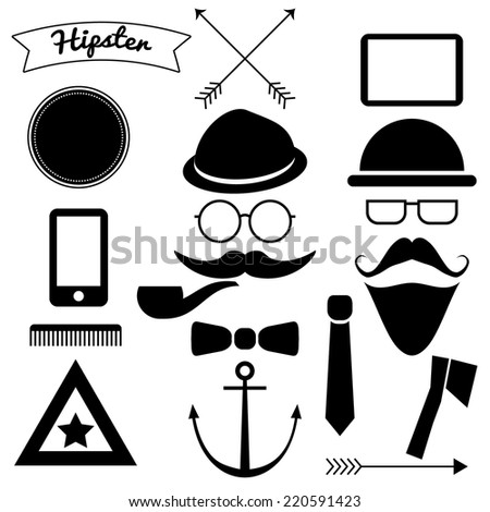 Hipster Vectors Alternative Shapes - stock vector