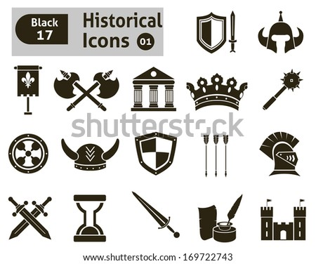 Histoical icons  - stock vector