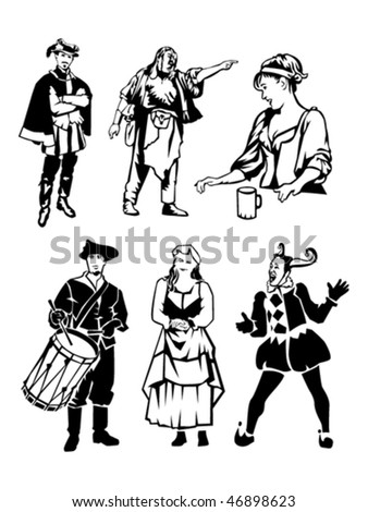 historical people - stock vector