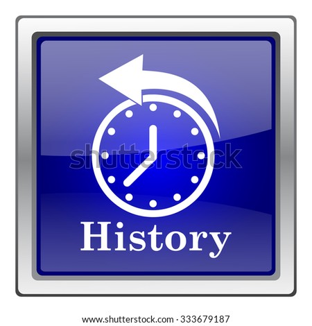History icon. Internet button on white background. EPS10 vector. - stock vector