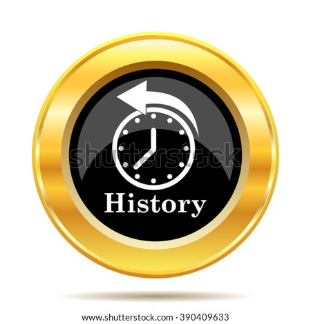 History icon. Internet button on white background. EPS10 vector.