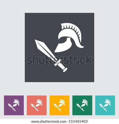 History. Single flat icon. Vector illustration. - stock vector
