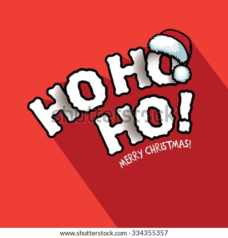 Ho Ho Ho! Merry Christmas typography design. EPS 10 vector illustration  - stock vector