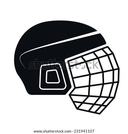 Hockey Helmet Icon, Vector Illustration - stock vector