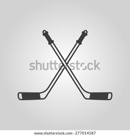 Hockey icon. Sport symbol. Flat Vector illustration - stock vector