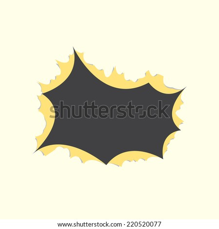 Hole in A Paper - stock vector