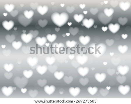 Holiday abstract glowing blurred background, bokeh. Defocused blinking heart shaped lights, vintage toned. Valentine Hearts Abstract Background. St.Valentine's Day Wallpaper. Heart Holiday Backdrop - stock vector