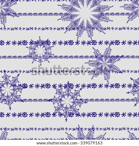 Holiday background, snowflake background, snowflake pattern, snowflake template, snowflake decorations, Christmas Decoration, seamless winter background with snowflakes.  - stock vector