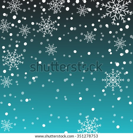 Holiday background, snowflake pattern, Christmas Decoration. - stock vector