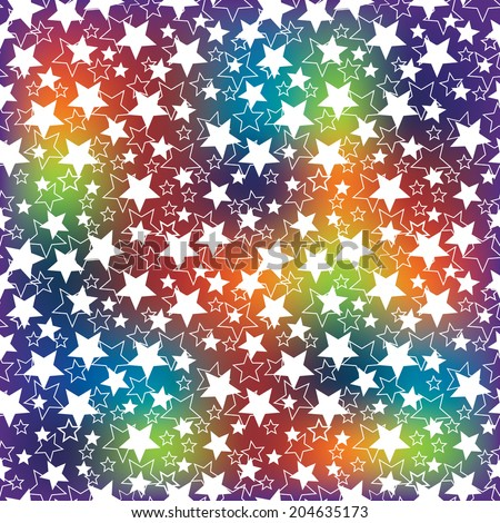 Holiday background. The rainbow blur and the stars.Bright  pattern or background. Festive set. Use for Wallpaper , background , web backdrop, web page.The vector. - stock vector