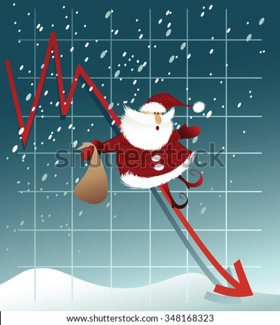 Holiday background with broke Santa Claus - stock vector