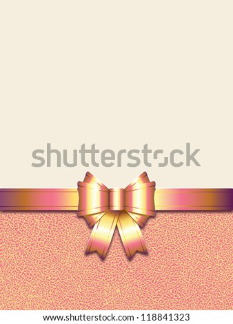 holiday background with pink bow (also available jpg version) - stock vector