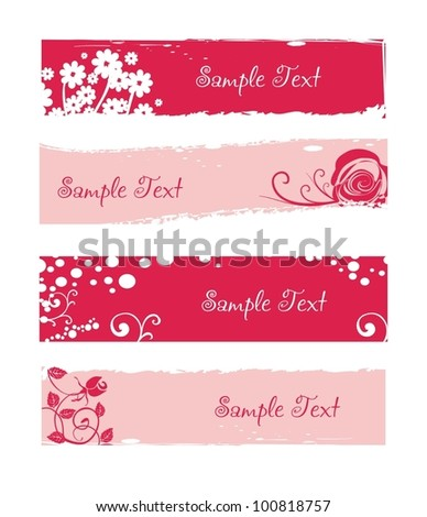 holiday banner easy to modify - stock vector