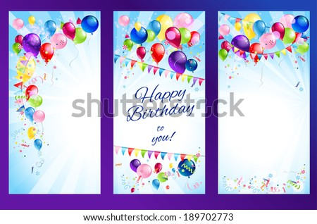 Holiday banners with place for text - stock vector