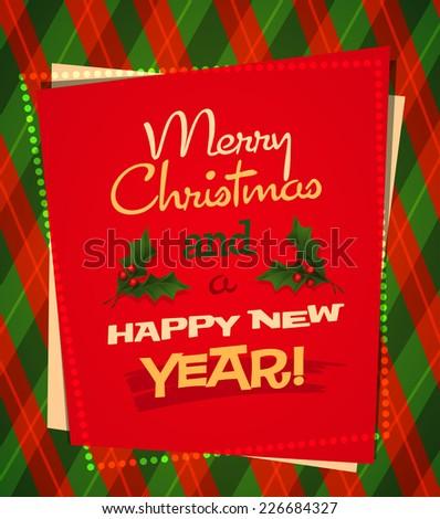 Holiday frame. Christmas card \ poster \ banner. Vector illustration. - stock vector