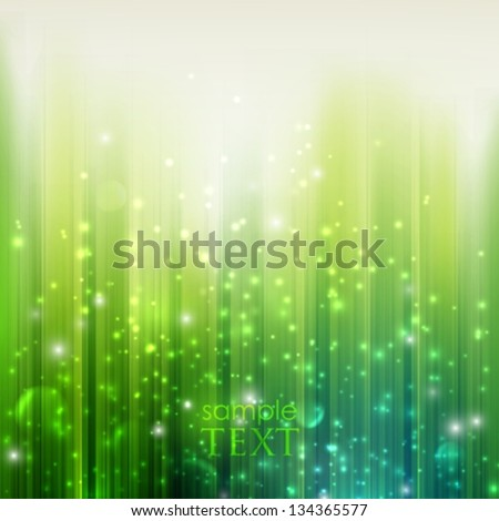 holiday green background with sparkles - stock vector