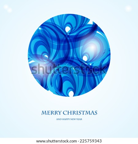 Holiday greeting card with abstract  christmas ball - stock vector
