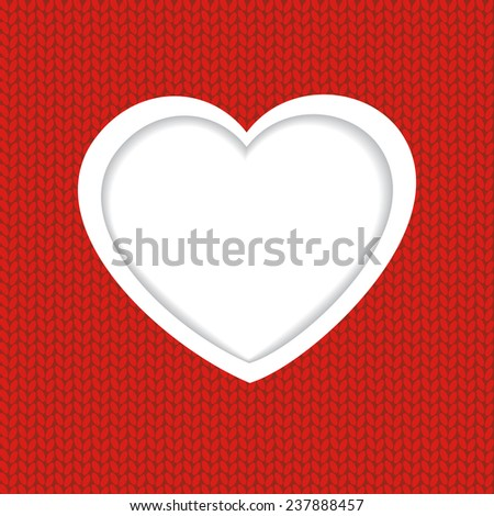Holiday Greetings Card. Heart on red background for Valentine`s day.  Look my portfolio to find more images of the same series - stock vector