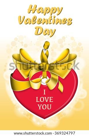 Holiday heart shaped card - stock vector