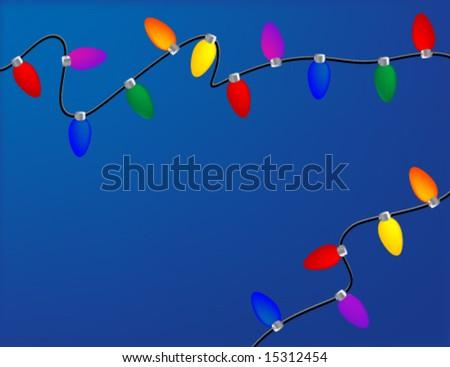 Holiday Lights - stock vector