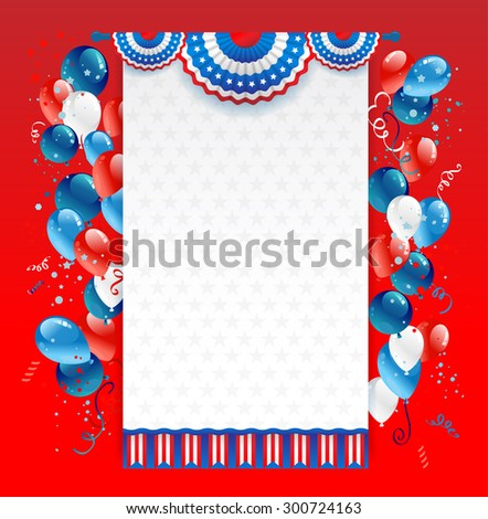 Holiday red background with place for text. Decorations for advertising, leaflet, cards, invitation and so on. - stock vector