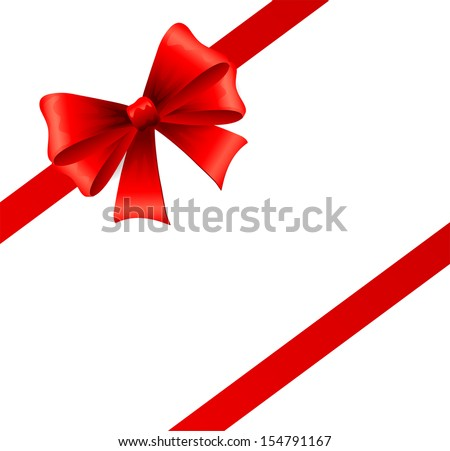 Holiday ribbon and bow - stock vector