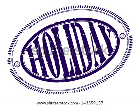Holiday rubber stamp. One color, place for your text on the outskirts - stock vector