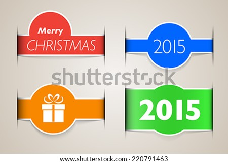 Holiday web design elements like paper inset. Vector illustration  - stock vector