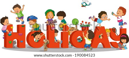 holidays for children - stock vector