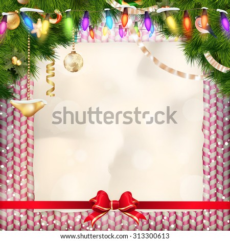 Holidays sweets greeting and Christmas card. EPS 10 vector file included. EPS 10 vector file included - stock vector
