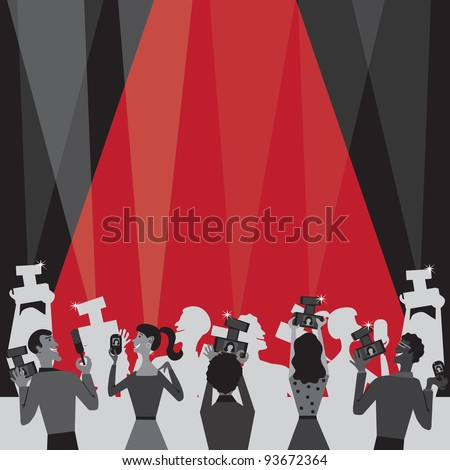 Hollywood Movie Award Party Invitation with plenty of room for your information - stock vector