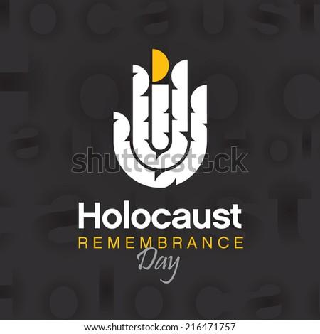 Holocaust Survivor Remembrance Day - stock vector