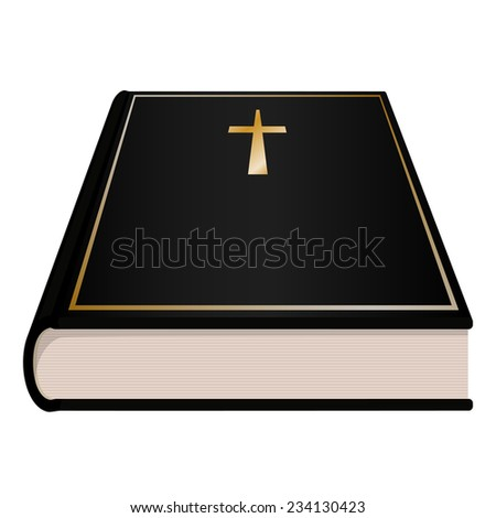 holy bible book  - stock vector