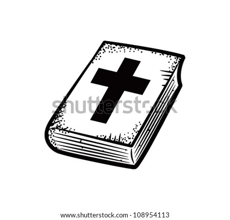 Holy Bible in doodle style - stock vector