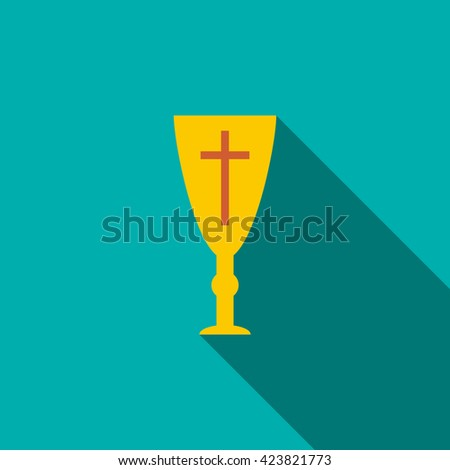Holy chalice icon - stock vector