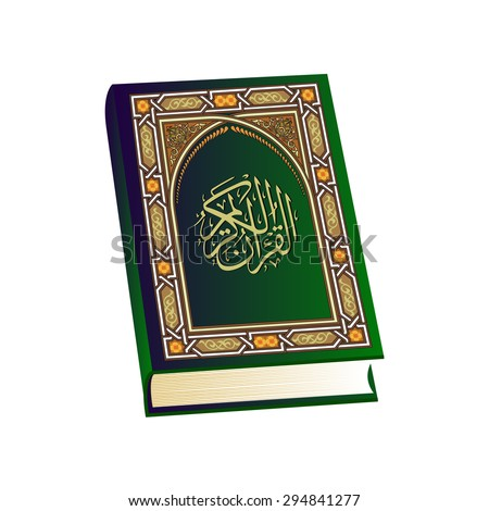 Holy Quran. Islamic book isolated. vector illustration - stock vector