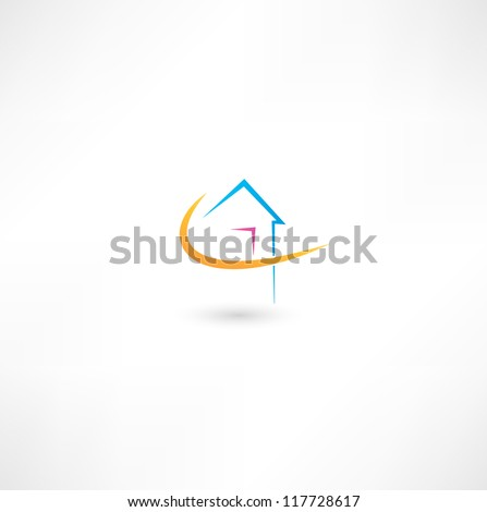 Home - stock vector
