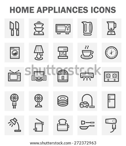 Home appliance icons sets. - stock vector