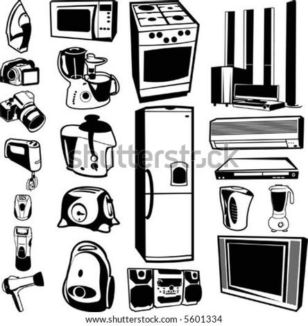 home appliances - stock vector