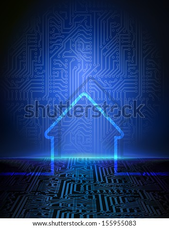 Home automation background - stock vector