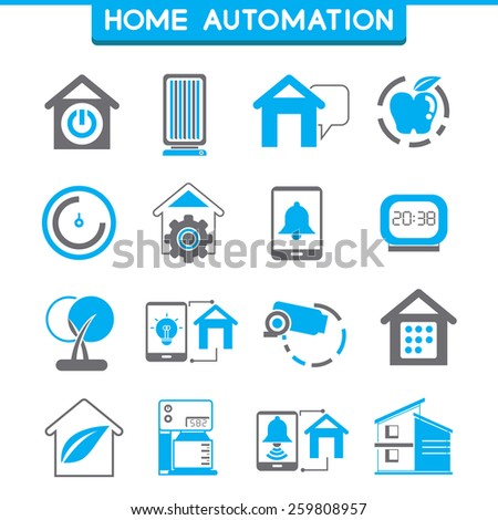 Stock Images similar to ID 214237645 - smart home system ... Home Automation System Icon
