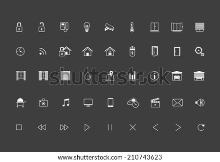 Home Automation, Smart Home Icon set, Vector images - stock vector