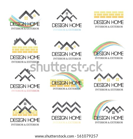 Home Design Icons Set - Isolated On White Background - Vector Illustration, Graphic Design Editable For Your Design. - stock vector