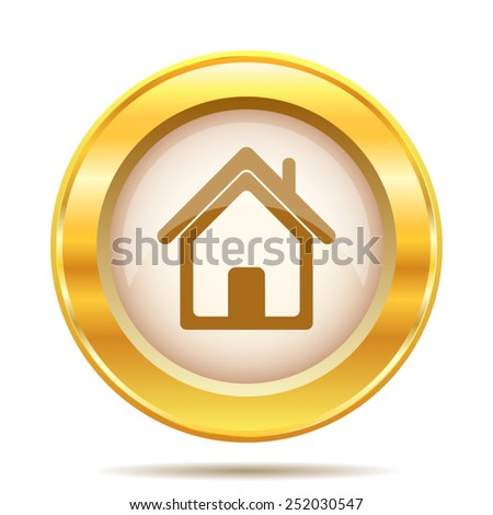 Home icon. Internet button on white background. EPS10 vector.  - stock vector