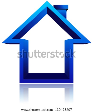 home icon on white background - stock vector
