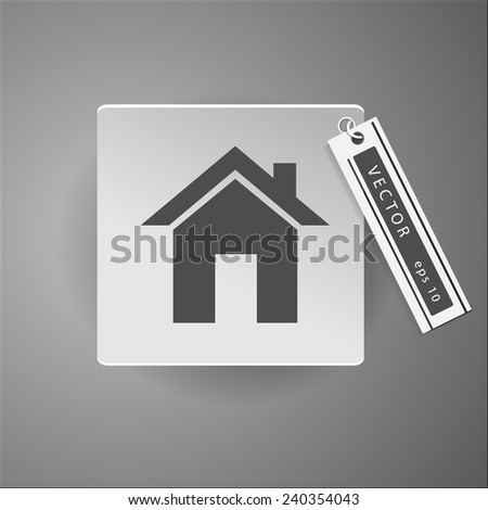 home icon web sign - stock vector
