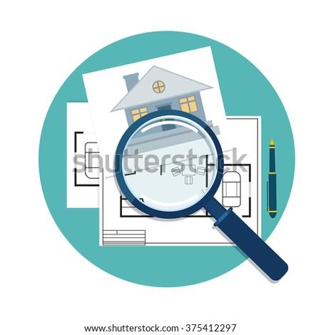 home inspector icon - stock vector