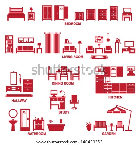 Home related icons 2 - stock vector